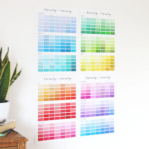 Paint Chip Colour Swatch Wall Planner 2020