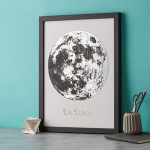Metallic Moon Art Print - modern & abstract