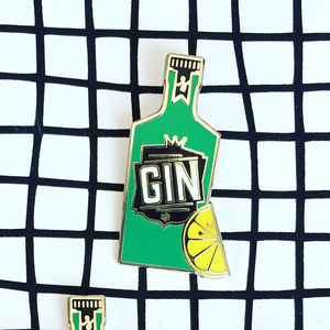 Gin And Tonic Enamel Pin Badge - pins & brooches