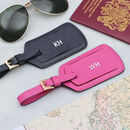 Luxury Leather Matching Couples Luggage Tags