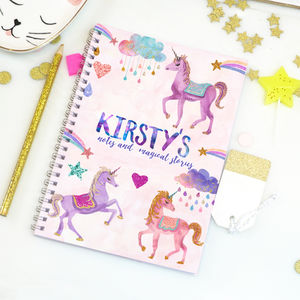 Personalised Unicorn Notebook 'Magic Unicorn' - personalised