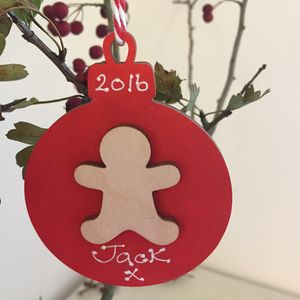 Personalised Christmas Gingerbread Bauble