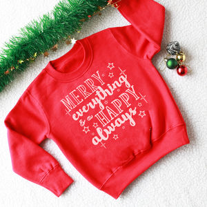 Merry Everything Kid's Christmas Jumper