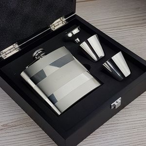 Personalised Engraved Hip Flask With Presentation Box - hip flasks
