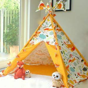 Woodland Fox Print Wigwam With Flags - traditional toys & games