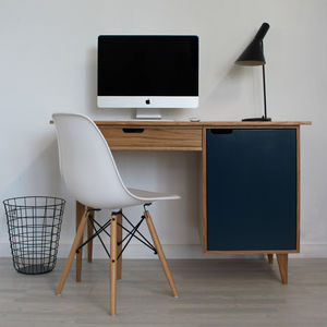 Euston Handmade Scandinavian Oak Desk - office & study