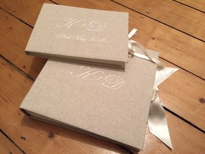 Personalised Monogrammed Guest Book With Date - albums & guest books