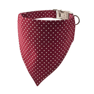 Cranberry Polka Dot Bandana Dog Collar