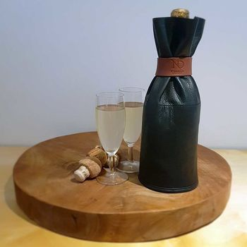 Leather Drinks Bottle Sleeve