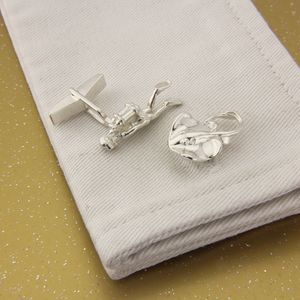 Scuba Diver/Stingray Cufflinks , Solid Silver - men's accessories