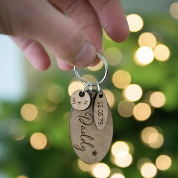 Personalised Daddy Special Date Keyring