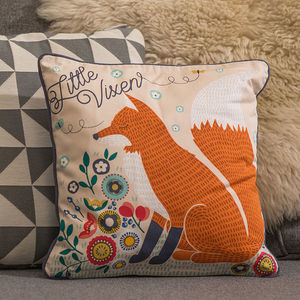 Fox And Vixen Cushion