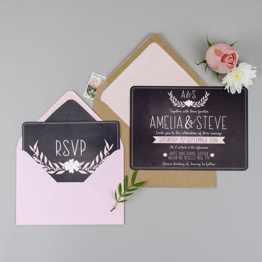 dusky romance wedding invite sample pack by eliza may prints ...