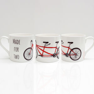Tandem Bike Bone China Mug