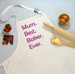 Apron Best Baker Ever Personalised