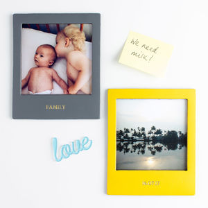 Personalised Coloured Leather Frame Magnetic - best valentine's gifts for her