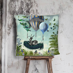 Flight Of The Stag Cushion - living room