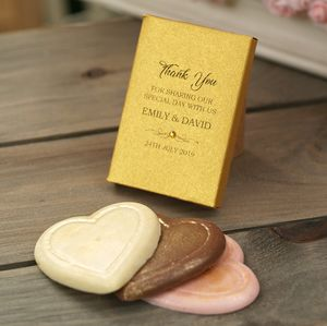 Gold Wedding Favours Chocolate Gift Boxes