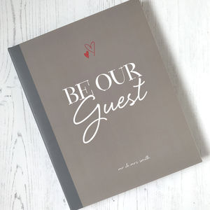 Be Our Guest Wedding Guest Book With Personalised Cover