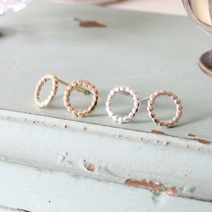 Bead Ring Studs - earrings