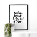 Personalised Hand Brush Lettered Art Print