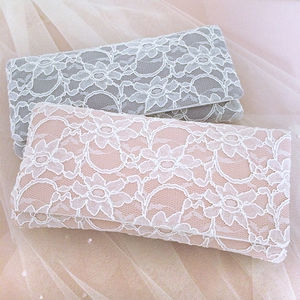 Astrid Light Blue, Grey Or Blush Lace Clutch - bags