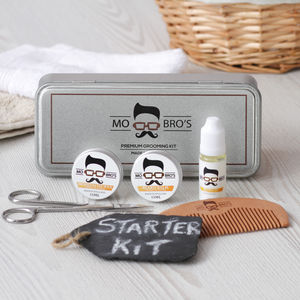 Beard Grooming Starter Gift Tin - gift sets