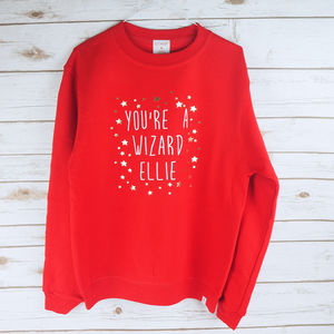Personalised 'You're A Wizard' Star Jumper - women's fashion