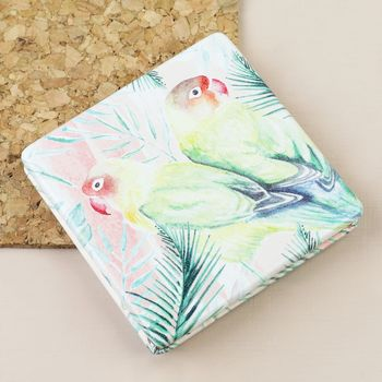 Love Birds Compact Mirror