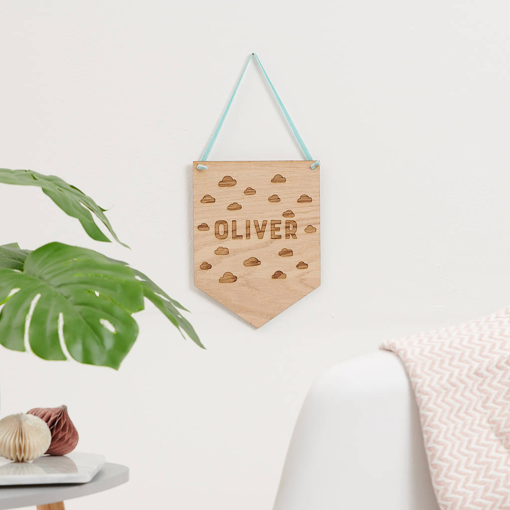 Personalised Scandi Children's Name Plaque