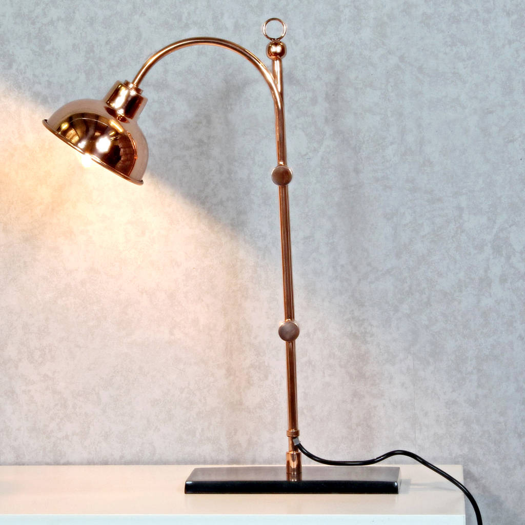 Copper Desk Lamp Oxford Design Limited Edition