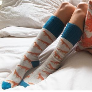 Ladies Soft Lambswool Socks : Animal