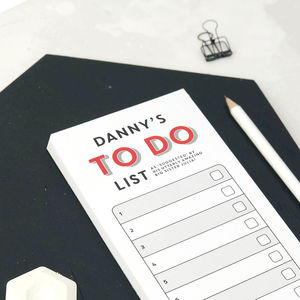 Personalised 'To Do' List Notepad - secret santa gifts