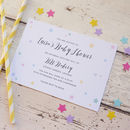 Little Star Baby Shower Invitations