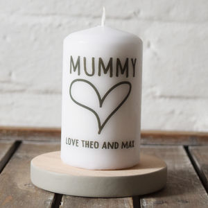 Personalised Birthday Message Candle