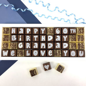 Birthday Chocolates Personalised Message In Large Box