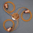 Copper Three Way Ceiling Rose Pendant Kit