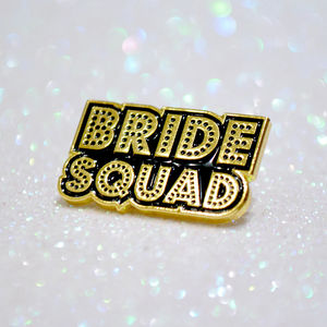 Bride Squad Bachelorette~Hen Party Enamel Lapel Pins - hen party ideas