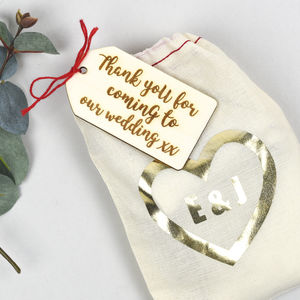 In Your Own Words Wedding Favour Bag And Tag - wedding favours
