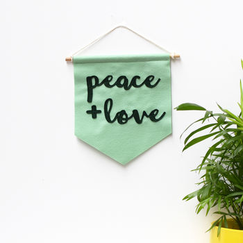Peace And Love Mini Banner