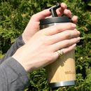 Personalised Reusable Sustainable Bamboo Coffee Cup