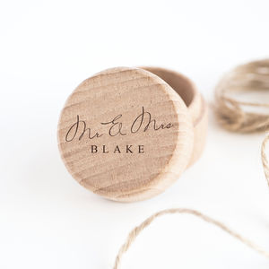 Personalised 'Mr And Mrs' Ring Box - tokens & keep sakes