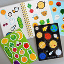 Kawaii Sticker Sheets With Food, Space And Nature