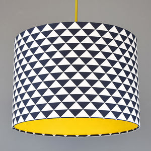 Pick And Mix Triangles Drum Lampshade Choice Of Colours - lamp bases & shades