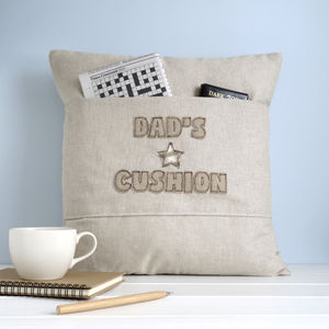 Personalised Pocket Cushion With Stars - embroidered & beaded cushions