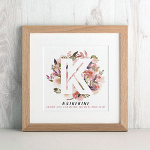 Bouquet Initial Print - wedding gifts