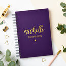 Personalised Luxe Script Name Notebook