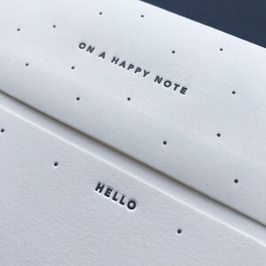 'On A Happy Note' Letterpress Notecards