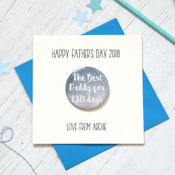 The Best Dad Badge Fathers Day Card