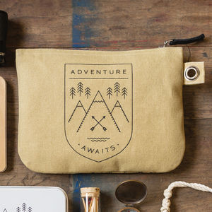Camping Adventure Zip Pouch